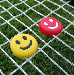 Großhandel Kraftwerksunterstützung Inspektion Smiley Stoßdämpfer Stoßdämpfer Multi-Color optional Tennisschläger-Set Squash Balls