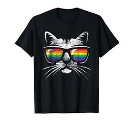 Tee Shirt Cat Australia - Vintage Gay Pride Gift Shirt LGBT Pride Cat Lover Tee Size M-3XL US Men's 2019