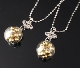 "$enCountryForm.capitalKeyWord Australia - 2PCS Pair ""Best Friends"" Xmas Star Glass Ball Pendant Necklaces Kids Imitation BFF Necklace For Children Jewelry Birthday Gifts"