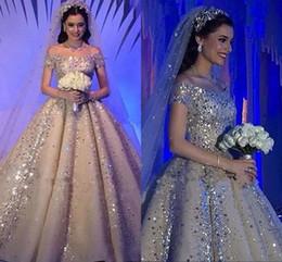 $enCountryForm.capitalKeyWord UK - Luxury Saudi Arabic Crystals Rhinestones Ball Gown Wedding Dresses Plus Size Dubai Off-Shoulder Beaded Chruch Bridal Wedding Gowns Custom