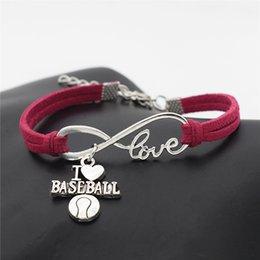$enCountryForm.capitalKeyWord Australia - Christmas Gift Infinity Love Basketball Soccer Volieyball Baseball Football Pendants Bracelets Rose Red Leather Suede Rope Women Men Jewelry