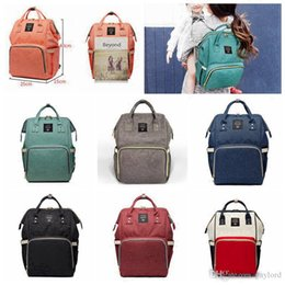 $enCountryForm.capitalKeyWord NZ - 14 Colors Mummy Maternity Nappy Bag Large Capacity Baby Bag Travel Backpack Desiger Nursing Bag for Baby Care Diaper Bags 10pcs H02g
