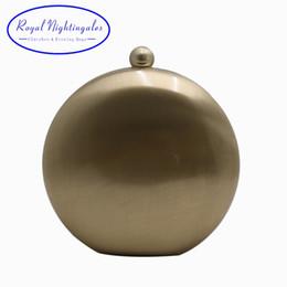 Großhandel Royal Nightinglaes Metal Hard Box Clutch Gold / Silber / Bronze / Gunmetal Schwarz Abendtaschen für Party-Party der Frauen # 88987