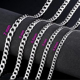 Bulk Stainless Chain Australia - FUNIQUE Men Stainless Steel Long Chain Necklace Silver 4.5-7mm Necklace For Male Bracelet DIY Jewelry Making Material BUlK