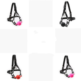 nose gag Australia - Leather Silicone Mouth Gag Head Strap Harness Restraint Nose Hook Trainer Play A876
