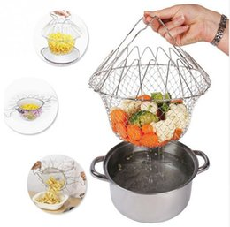 French Cooking Tools Australia - Multi-Function Folding Rinse Stainless Steel Frying Basket Cook Special Kitchen Utensils Fried Basket French Fries to Oil Kitchen Tool
