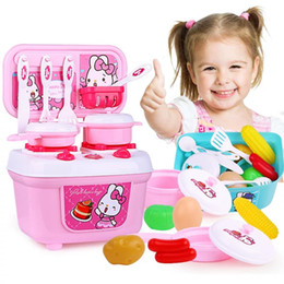 kitchen role Australia - 1 Set Children Girl Toy Role Play Mini Simulation Kitchenware Tableware Cookware Little Kitchen Girl Cooking House Toy Children