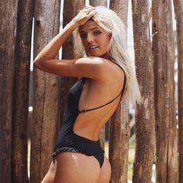 $enCountryForm.capitalKeyWord Australia - Belt Backless Swimsuit Solid Swimwear Women One Piece 2019 Push Up Bikinis Mujer Monokini Strap Beachwear Swim Bathing Suit Girl