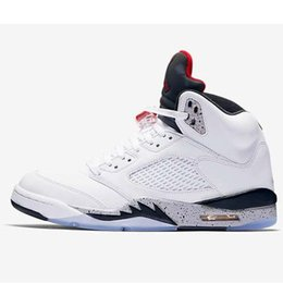 86fedff20b2c Cheap womens Jumpman 5s basketball shoes retro White Cement Raptors Sup  Pink aj5 air flights sneakers boots j5 for kids boys Girls with box