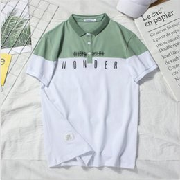 Mens Polo Design NZ - Mens Designer T Shirts Summer Brand Mens Designer Polo Short Sleeve Men T Shirt Letter Design High Quality Casual Tee 2colors High Quality