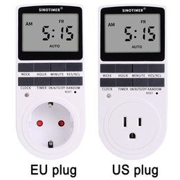 $enCountryForm.capitalKeyWord Australia - Super LCD Display Digital Weekly Programmable Electrical Wall Plug-in Power Socket Timer Switch Outlet Time Clock 220V 110V AC