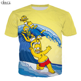 Discount couple t shirt printing Cartoon Anime The Simpsons T Shirt Men Women 3D Print Homer J. Simpson Short Sleeve Fashion Couples Tee Tops S-5XL