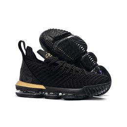 shoe box sales UK - what the lebron 16 women basketball shoes for sale MVP Christmas BHM Oreo black gold youth kids Generation mens sneakers with original box