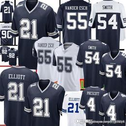 4f36d8f8191 Dak Prescott Jerseys Australia - Dallas Cowboys 21 Ezekiel Elliott Jersey  Mens 55 Leighton Vander Esch