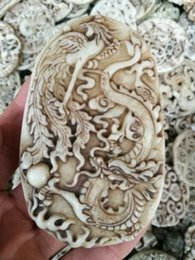 $enCountryForm.capitalKeyWord Australia - CHINESE FOLK Old jade carving Jade ornaments dragon and phoenix Pendant