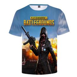 T Shirt Hip Hot Australia - 2019 Hot Game Pubg 3d Men's T Shirt new Playerunknown's Battlegrounds Fashion Hip Hop Summer 3d Print Pubg T Shirt Men women