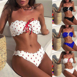 $enCountryForm.capitalKeyWord Australia - Best Selling Sexy Temptation Women Wave Point Push-Up Padded Bra Beach Set Swimsuit Swimwear Beachwear Dropshipping 2019 F3