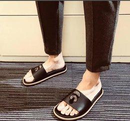 $enCountryForm.capitalKeyWord Australia - clog Sale-TX Genuine leather men flip flops outdoor sandals rhinestone designer casual man slippers Slides Hombre 38-45