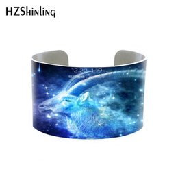 $enCountryForm.capitalKeyWord UK - Free shipping adjustable Open Bangle Bracelet with custom Star Constellation Zodiac Jewelry printed photo animal cuff jewelry