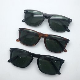 3bca1d394e7c6 BAUS PK sunglasses persol 3059S sunglasses black square acetate glass  lenses arrow pilot shape sunglasses with cases