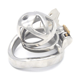men sex ring NZ - Male Chastity Device Chaste Bird Stainless Steel Cock Cage Arc Penis Ring Cockrings Cock Cage Sex Toys for Men G7-241A