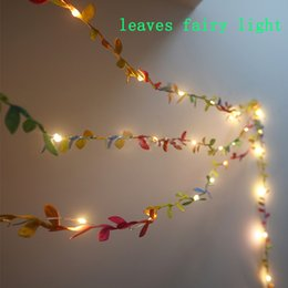 $enCountryForm.capitalKeyWord UK - Mini LED String Light Fairy Copper tiny leaves garland Holiday Light Battery Operated for Wedding Bedroom Patio Wall Decor