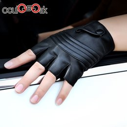 $enCountryForm.capitalKeyWord Australia - 2019 New Style Mens Leather Driving Gloves Fitness Gloves Half Finger Tactical Gloves Black Guantes Luva