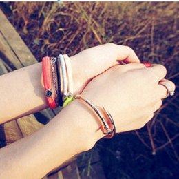 Vis Nail Cuff Bracelets Cuivre Amour Bracelets Pour Femmes Or Pulsera Bijoux En Acier Inoxydable Vis Bracelet Pulseiras Femininas en Solde