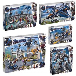 $enCountryForm.capitalKeyWord Australia - For Captain Marvel Avengers 4 Endgame Thanos Iron Man War Machine Super Hero Set Figures Building Blocks Bricks ToysMX190820
