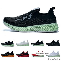 ash sneakers sizing Canada - Futurecraft Alphaedge Runner Running Shoes Men Women Ash Green Triple Black White Red Designer Trainer Sport Sneaker Size 6.5-12