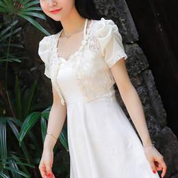 Discount womens short cardigans - MLXSLKY 2019 summer short lace small shawl thin coat short-sleeved cardigan womens thin cardigan