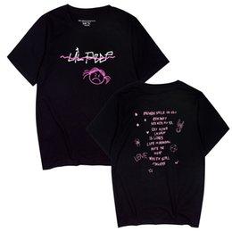 Love Tees Australia - LOVE LIPEEP Letters Tshirts Men Women Summer nipsey hussle Rap Short Sleeved Tees Rapper Hiphop Tops