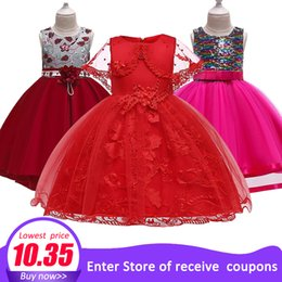 years old baby girl dresses NZ - Children's Dress 2018 New 3 4 5 6 7 8 Years Old Lace Color Matching Girls Princess Party Dress Summer Baby Tutu Clothing MX190725