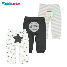 anime clothing for Canada - 3pcs lot Warm Baby Pants Cotton Anime Infant Drawers For Babies 0-24 Newborn Trousers Cartoon Baby Girls boys Clothes For Autumn Y190529