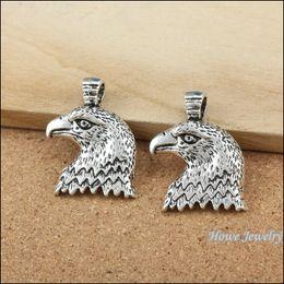 Silver Eagle Bracelet Australia - 50pcs Charms vintage eagle Pendant Tibetan silver Zinc Alloy Fit Bracelet Necklace DIY Metal Jewelry Findings