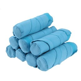 Magic Sponge Hair Curlers Australia - Sticky Sponge Fabric Hair Rollers Sleep Styler Kit Long Cotton Curlers DIY Styling Tools Blue Color Magic Hair Dressing free shipping