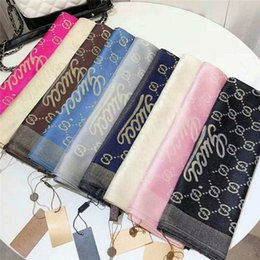 Scarfs Cotton Australia - Brand New Design womans brand Scarf High Quality cotton with gold thread Classic long design womans scarves for women H-255B