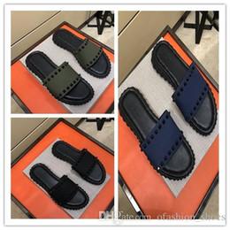 $enCountryForm.capitalKeyWord Australia - 2019 Brand Men Scuffs Sandals Designer Shoes Luxury Slide Spring Summer Hot Selling Fashion Trend Wide Flat Slippery Slipper Flip Flop