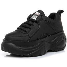 00d4b731 ... mujer blanca zapatillas de deporte 7 C M 2019 Nueva primavera de fondo  grueso para mujer plataforma zapatillas de deporte de moda con cordones  zapatos ...