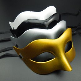 Black Gold Silver Party Decorations Australia - On Sale supper mini Mask cute fox mask black white gold silver venetian masquerade party decoration Halloween carnival mardi gras gift
