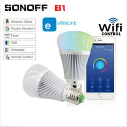 $enCountryForm.capitalKeyWord Australia - Sonoff B1 Led Bulb Dimmer Wifi Smart Light Bulbs Remote Control Wifi Light Switch Led Color Changing Bulb Works with Alexa