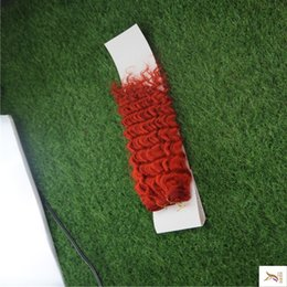 double weft human hair extensions Australia - The Fashion Red Color Unpeocessed Double Weft Hair Weaving 100% Human Hair Weave 10-30 Inchs Kinky Curly Hair Extensions