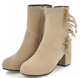 Pop 2019 Zapatos Mujer Sapato Women Ankle Boots Gladiator Office Ladies  Chaussure Chunky High Heels Pumps Faux Suede Shoes Woman 3e36cf4dc948