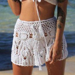 7599c8dd53 Mini bikinis skirts online shopping - Women Sexy Crochet Bikini Bottom High  Waist Bikini Beach Dress