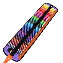 Venta al por mayor de Al por mayor arte Dibujo Lápiz 72 PC / lápiz de la escuela con el plegado de la pluma Negro Bolsas Colores estudiantes Mix Lápiz con la bolsa de BH1198 TQQ