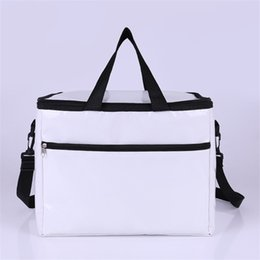 White oxford flats online shopping - Oxford White Keeping Portable Bag Water Proof Keep Warm Package Single Shoulder Cooler Insulated Thermal Zipper Hot Sale hpE1