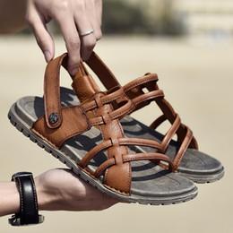 Men Beach Sandals 2019 Summer Men s Outdoor Shoes Roman Men Leisure Shoes  Male Flip Flops Fashion Slippers Flat Walking Footwear 84cede8d2e69