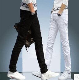 White Long Pants Men Australia - 2019 CHOLYL Men's Skinny Jeans white black Denim Jeans New Fashion Men Pencil Pants Slim Men Skinny Long