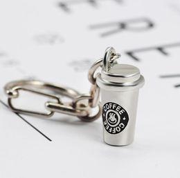 $enCountryForm.capitalKeyWord NZ - Unisex Coffee Cup Keychains Pendant Necklace Set Best Friends Hip Hop 3D For Women Men Children Creative Friendship Jewelry Gift