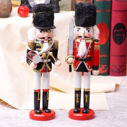 nutcracker gifts wholesale 2019 - Decoration Dolls Walnut Soldiers Nutcracker Puppet Creative Desktop 30cm Height Wood Bar Christmas Ornaments Gift Free s